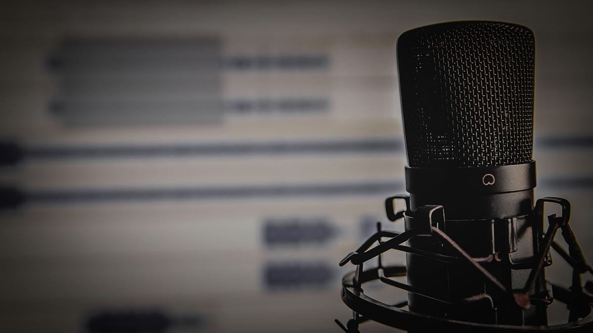 Mikrofon und Monitor